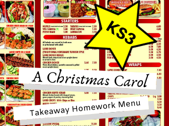 A Christmas Carol KS3 Takeaway Homework Menu