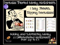 Pancake Day Money Worksheets