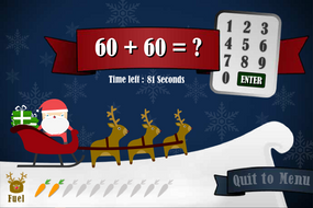 Santa Addition Interactive Game - Christmas KS1/KS2