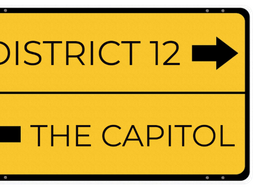 Literary Settings - English Signpost Reading Display