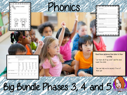 Big Phonics Bundle Complete Units of Lessons Phases 3, 4 and 5