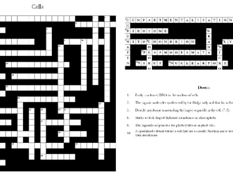 2. Cells Crossword: Text Documents and Interactive Webpages