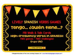 SPANISH VERBS I HAVE, WHO HAS? 2 GAMES & CHALLENGES 99 VERBS