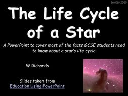 GCSE Life Cycle of a Star