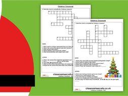 Christmas Crosswords KS2 Activity