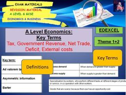 economics terms and definitions