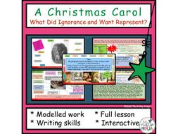 A Christmas Carol: What Did Ignorance and Want Represent?   Teaching Resources