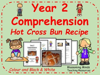 Hot cross bun instructions comprehension - Year 2 SATs style - Easter - Good Friday