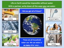 Thinking about the different ways we use water - KS2