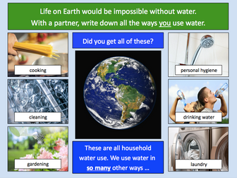 Thinking about the different ways we use water