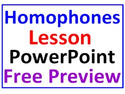 Homophones FREE PREVIEW PowerPoint Lesson