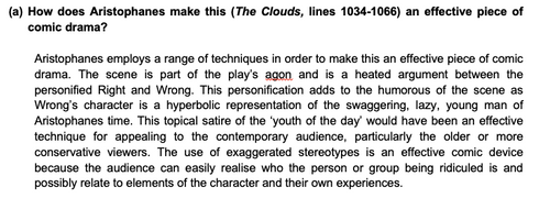 Commentary Essay on Aristophanes' The Clouds