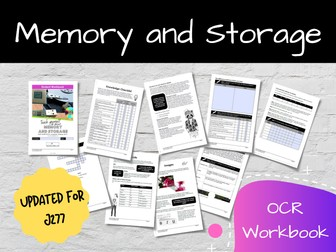 Memory and Storage OCR GCSE Computer Science Workbook (J277)