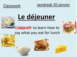 Food in French - le déjeuner (lunch)