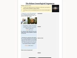Kalam Argument Worksheets