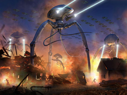 Science Fiction Writing Complete Unit of Work KS2 / KS3 (War of the Worlds) With Free Reading Test and handwriting session!