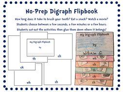 No-Prep Digraph Flipbook