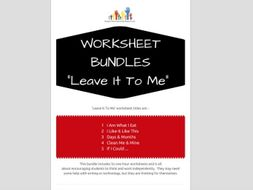 SPECIAL EDUCATION x5 worksheets - LEAVE IT TO ME - independent thinking, processing, linking skills