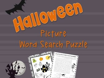 Halloween Picture Word Search