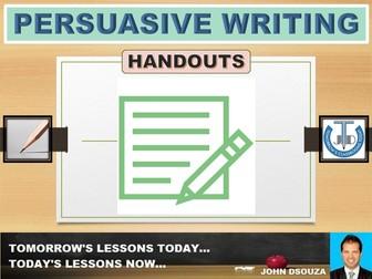 PERSUASIVE WRITING: HANDOUTS