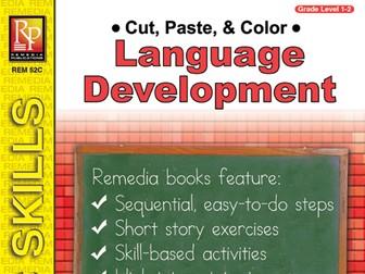 Language Development: Cut, Paste, & Color