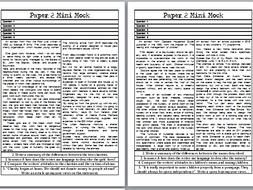 3 x AQA Lang Paper 2 Mini Mocks: Q2-5