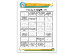 Family & Neighbours - Conversation Flashcards