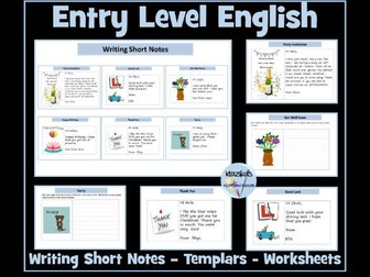 Entry Level English: Writing Short Notes