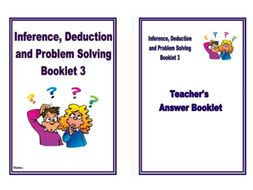 Inference Deduction And Problem Solving Pack 3 Homework Booklet For