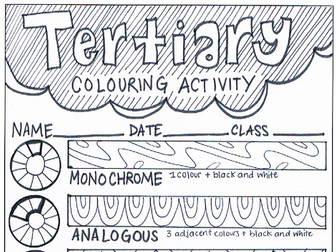 Colour Wheel Tertiary Learning Activity