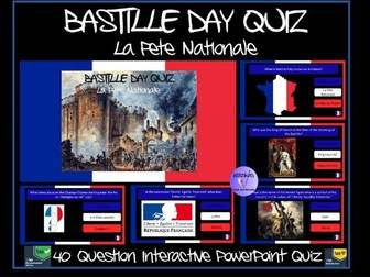 Bastille Day / French Revolution PowerPoint Quiz