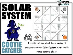 Solar System Cootie Catcher