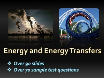 KS3 Phyics - Energy,  Forms of Energy, Transfers, Transformations, Diagrams, Conservation, Fuels