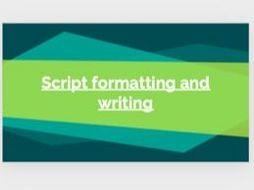 Eduqas GCSE Film Component 3: Script formatting and writing