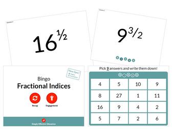 Fractional Indices (Bingo)