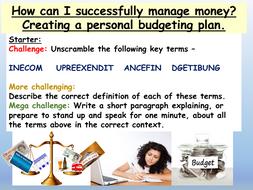 Money Budgeting