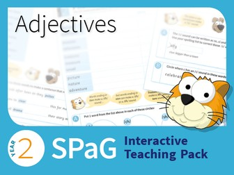 Year 2 SPaG Interactive Teaching Pack - Adjectives