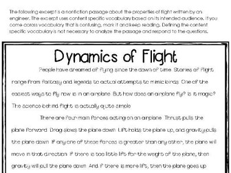 Properties of Flight: A Nonfiction Close Reading Activity