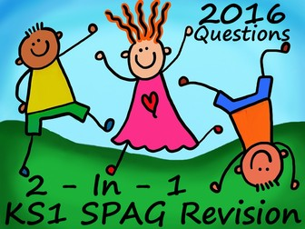 KS1 2016 SPAG Sample Paper Two In One Questions and Answers In One Presentation