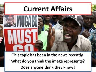 Current Affairs Form Time Activity - Mugabe's Resignation in Zimbabwe