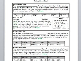 Health and Skill related Worksheets
