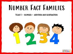 Number Fact Families - PowerPoint presentation and worksheets
