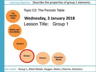 AQA GCSE: C2 The Periodic Table: L5 Group 1