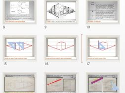 two point perspective drawing a cityscape step by step by
