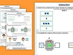 Year 1 Adding More Autumn Block 2 Maths Homework Extension