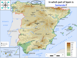 Compass Directions in Spain (8 points of the compass) - Geography of Spain - KS2