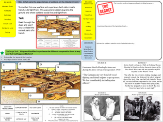 WW1: What were the experiences of soldiers on the Western Front Trenches? (Lesson 6)