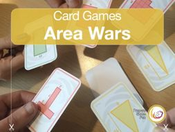 Area of Shapes | Card Game for learning how to measure the area of shapes