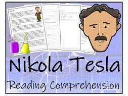 UKS2 Science - Nikola Tesla Reading Comprehension Activity