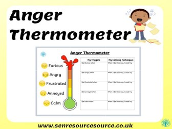 Anger Thermometer Worksheet